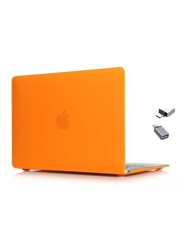 "Mcstorey MacBook Retina A1534 A1931 12"" Kılıf Kapak Koruyucu Hard Incase Mat Oranj"